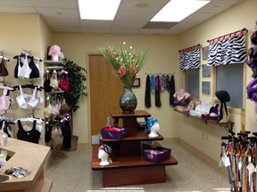 View of the boutique within their facility.